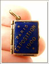 ANTIQUE 1900 PARIS UNIVERSAL EXPOSITION FRENCH ENAMEL PHOTO ALBUM LOCKET PENDANT