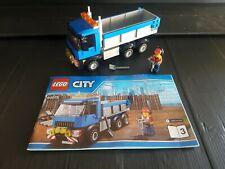 Lego City 60075 Blue Truck + Figure + Tools + Instructions (split from set) rare