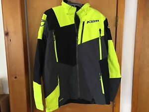 Klim Men's XL Yellow/Black Snowmobile Jacket Gore-Tex Storm Parka NICE! #IB-DS