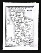 1833 Perrot Tardieu Map - Manche Coutances Mortain Cherbourg Valognes - France