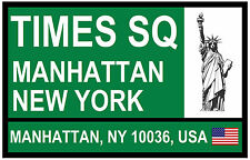 STREET / ROAD SIGNS (TIMES SQ, NEW YORK) - SOUVENIR NOVELTY FRIDGE MAGNET - GIFT
