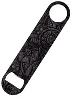 Metallic Flowers Bar Blade Bottle Opener 18x4cm