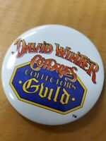 """David Winter Cottages Collectors Guild pin button 2"""" round"""