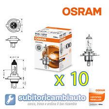 10 LAMPADE OSRAM H4 CLASSIC ORIGINAL LINE BILUX 64193 10 pezzi