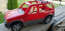 Barbie 2002 Ford Escape Hybrid Suv Red truck Mattel w/Movable Seats & Seat Belts