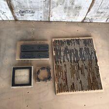 Stanzform Stanzen für Buchdruck Heidelberg Tiegel Letterpress Bleisatz Handsatz