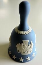 Wedgwoood - Bicentennial Dinner Bell Jasperware 1976 Blue & White England 4�H