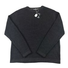 Smartwool Mens Cheyenne Creek Merino Wool Gray Sparwood Crew Sweater - Size XXL
