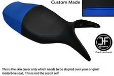 BLACK & ROYAL BLUE VINYL CUSTOM FITS BMW R 1100 S 98-05 DUAL SEAT COVER ONLY