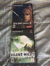 Sony PlayStation 2 PS2  Silent Hill 2 + 3 Complete CIB Survival Horror!