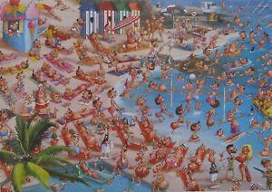Piatnik Francois Ruyer Beach 1000 pc Jigsaw Puzzle Humor