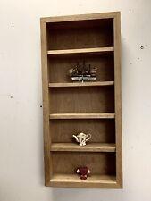 Reclaimed  Hard wood  ( Iroko ) WALL UNIT handmade Natural ( Unpainted)