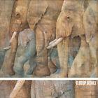 "43W""x34H"" EL DESFILE MAGNIFICO by CAROLINA LUZON - ELEPHANT HERD IVORY CANVAS"
