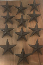 Cast Iron Nail Stars Set of 12 Craft Western Decor Texas Lone Star 3-1/2""
