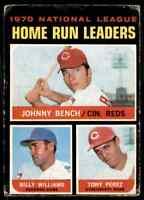 1971 Topps Jonny Bench . #66