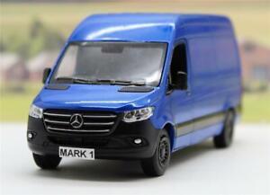 PERSONALISED PLATE Blue Diecast Mercedes Sprinter Van Boys Toy Model Present New