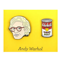 Andy Warhol Twin Pin Set - Badge / Pin / Lapel Pin by Unemployed Philosophers Gu