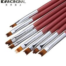 8Pcs 3D Premium Nylon Fiber Nail Art Ombre Brush Pen For UV Gel Polish Design