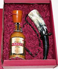 Wikinger Met Honigwein 11,0% Vol., 0,5 Liter Tonkrug + Becher + Horn + Ständer