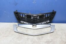2009 2010 ACURA TSX FRONT GRILL 3 PCS NEW 09 10 UPPER BASE SILVER MOULDING