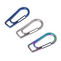 Titanium Alloy EDC Outdoor Keychain Carabiner Camping Spring Hiking Buckle Hook