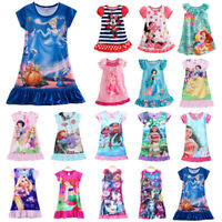Kid Baby Girl Nightdress Summer Princess Pajamas Nightwear Nightie Nightgown New