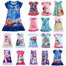 Kid Baby Girl Nightdress Summer Princess Pajamas Nightwear Nightie Nightgown New