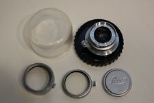 Leitz Wetzlar Summaron 35mm f3.5 lens, L39, with jewel case, hood, filter, cap