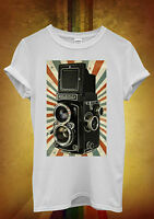 Retro Camera Photography Cool Hipster Men Women Unisex T Shirt Tank Top Vest 452