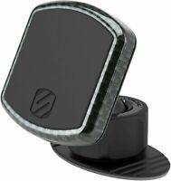 Scosche MagicMount Pro Universal Magnetic Phone Holder, Carbon Fiber Dash, Black