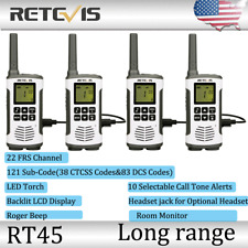 4*Retevis Rt45 22Ch Walkie Talkie Frs License-Free Way Radio Monitor Vox Scan Us