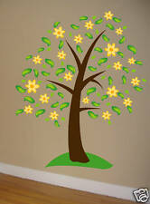 Wall Decal BIG TREE w/ Flowers  Deco Art Sticker Mural