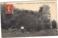 01 - cpa - AMBERIEU - Les Oubliettes du vieux château de Brey de Vent