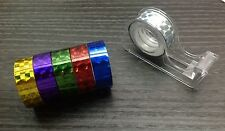6 Holographic Iridescent Prism TAPE Colored Crystal Fluorescent Glitter Sparkle