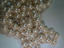 Best Majorca Pearls Strands 8mm Wire Wrap Tip Ends No Clasp 2 Strands !! (433