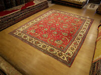9 x12 Handmade Antique Anatolian Oushak Design VINTAG WOOL RUG _Beautiful Colors