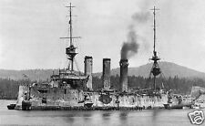 ROYAL NAVY CRUISER HMS CORNWALL AT ESQUIMALT FOLLOWING BATTLE OF THE FALKLA NDS