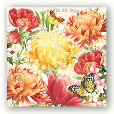 Michel Design Works Morning Blossiums  PAPER BEVERAGE NAPKINS  Germany