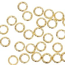 BMC Cute 100pc Gold Metal Twisted Cut-Out Ring Frame Nail Art Accessory Studs