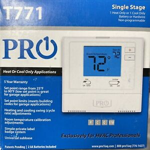PRO1 1AQ T771 Non-Programmable Electronic Thermostat