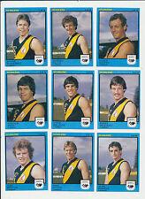 1982 Scanlens West Australian WAFL MINT Claremont Team set 9 cards