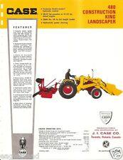Equipment Brochure Case 480 Construction King Landscape Tractor E1829