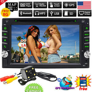 "6.2"" Double 2Din Car CD DVD Player GPS Navigation Radio Stereo Bluetooth Camera"