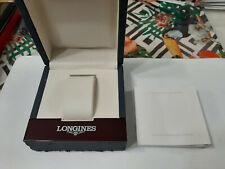 Longines anni 90 scatola astuccio orologi watch box con libretto leggi descr