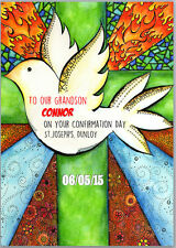 Confirmation Dove Card Boys or Girls A5 Personalised with own words