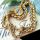 Vintage Napier Gold Tone Braided Chain Necklace 28'l