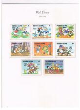 Sierra Leone,Mi.nr. 789 - 795 + 797,Walt Disney,postfrisch!