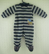 Doll Clothes Carter's Striped Velour Football Sleeper Newborn Infant Outfit