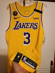 Anthony Davis 2019-20 Los Angeles Lakers NBA Finals Nike Authentic Jersey Sz 52