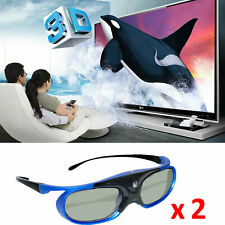 2X Rechargeable Active Shutter 3D Glasses DLP-Link For HD DLP 3D Projector BenQ